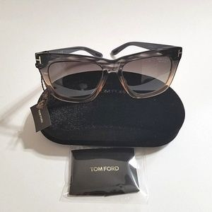 1a94d8445670 Tom Ford Accessories - Tom Ford Polarized Celina Gray Peach Gradient
